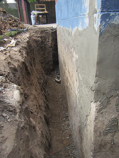 External Waterproofing Trench